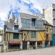 Stock Photo: Medieval french houses, Brittany style of houses