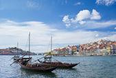 Porto city and river Douro — Stock Photo