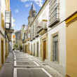 Colorful center street. Spanish village — Stock Photo #23776525