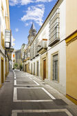 Colorful center street. Spanish village — Stock Photo