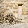 Ancient rural facade detail — Stock Photo