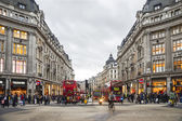 Oxford Street, shopping time — Stock Photo