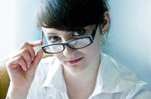 Woman in glasses — Stock Photo