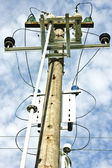 Electric high voltage post — Stock Photo