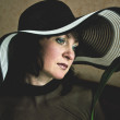 Woman in a Hat — Stock Photo