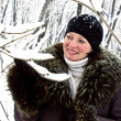 Stock Photo: Woman in winter forest