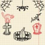 Halloween sketch set — Stock Vector #43308179