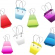 Set of colorful shopping bags — Stock Vector #43304499