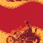 Grunge biker frame — Stock Vector