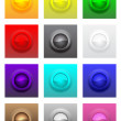 Colorful convex glossy buttons set — Stock Vector #43305457