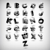Funny 3d alphabet — 图库矢量图片