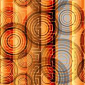 Nahtlose abstrakt hergestellt aus Ringe — Stockvektor