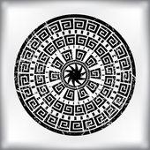 Altmodische abstrakte kreisförmige arabesque — Stockvektor