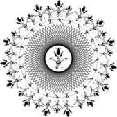 Floral circular arabesque — Vettoriale Stock