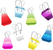 Set of colorful shopping bags — Stock Vector