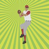 Baseball player silhouette — Vetorial Stock