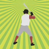 Baseball player silhouette — Stock Vector