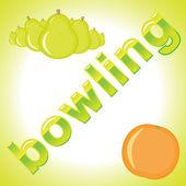 Bowling bowls of pears — Stockvektor