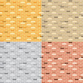 Seamless brick wall — Vettoriale Stock