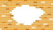 Broken brick wall — Stock Vector