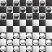 Brilliant classic checkers — Stock Vector