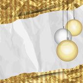 Cadre rétro de Noël — Vecteur