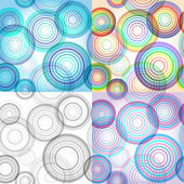 Set of four abstract circle patterns — Stock vektor