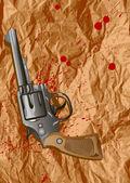 Krev, list, zbraň — Stock vektor