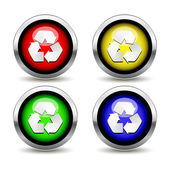 Recycling buttons set — Stock Vector