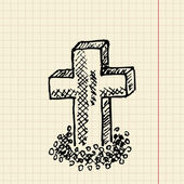 Grave sketch for your design — Stock Vector