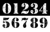 Grunge numbers — Stock Vector