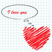 Manuscript love message — Stock Vector