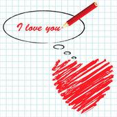Manuscript love message — Wektor stockowy
