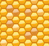 Seamless honeycomb pattern — Stock Vector