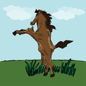 Funny horse sketch for your design — Stock Vector