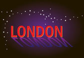 "Word ""LONDON""  with reflection — Stock Vector"