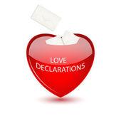 Valentine mailbox for love declarations — Stock Vector