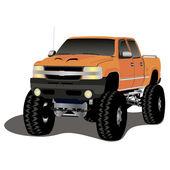 Orange monster truck — Stock Vector