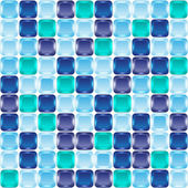 Blue mosaic seamless background — Stock vektor