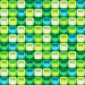 Green mosaic seamless background — Cтоковый вектор