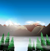 Mountain landscape — Vector de stock