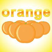Taze portakal — Stok Vektör