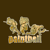 Paintball players — Stock Vector