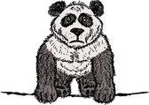 Panda schets voor uw ontwerp — Stockvector