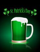 St.Patrick beer mug — Stock Vector