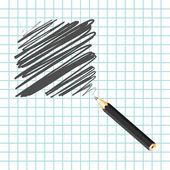 Black handwritten square — Vettoriale Stock