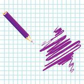 Purple handwritten star — ストックベクタ