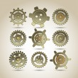 Set of gears of the different form — Stock Vector #43310101