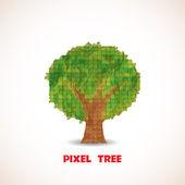 Albero di pixel — Vettoriale Stock