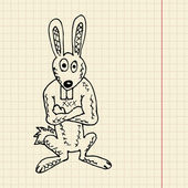 Funny rabbit sketch — Vector de stock